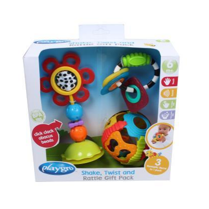 PlayGro Shake 'n' Rattle Gift Pack - Little Baby