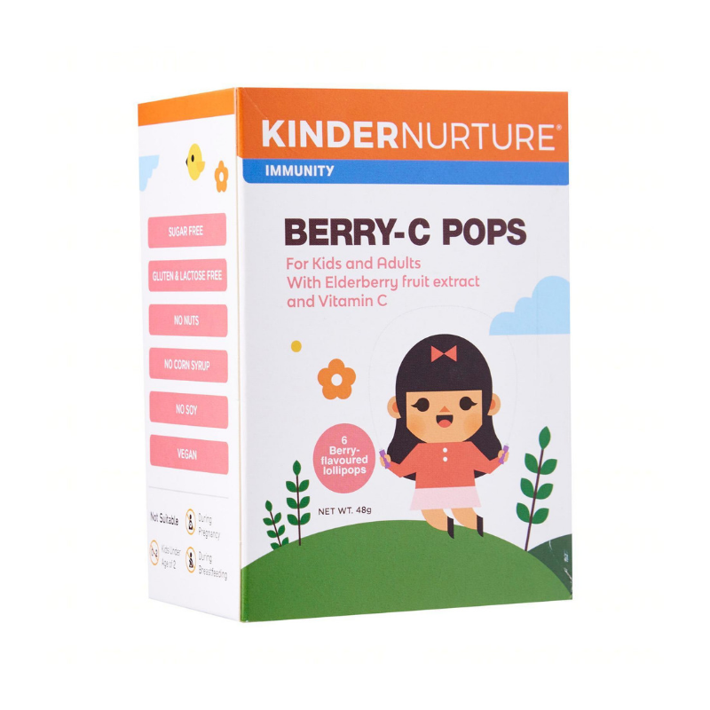 KinderNurture Berry-C Pops - 6 lollipops, 48 g.