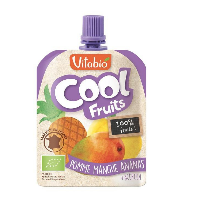 Vitabio Cool Fruits Apple-Mango-Pineapple Organic Smoothie, 90g