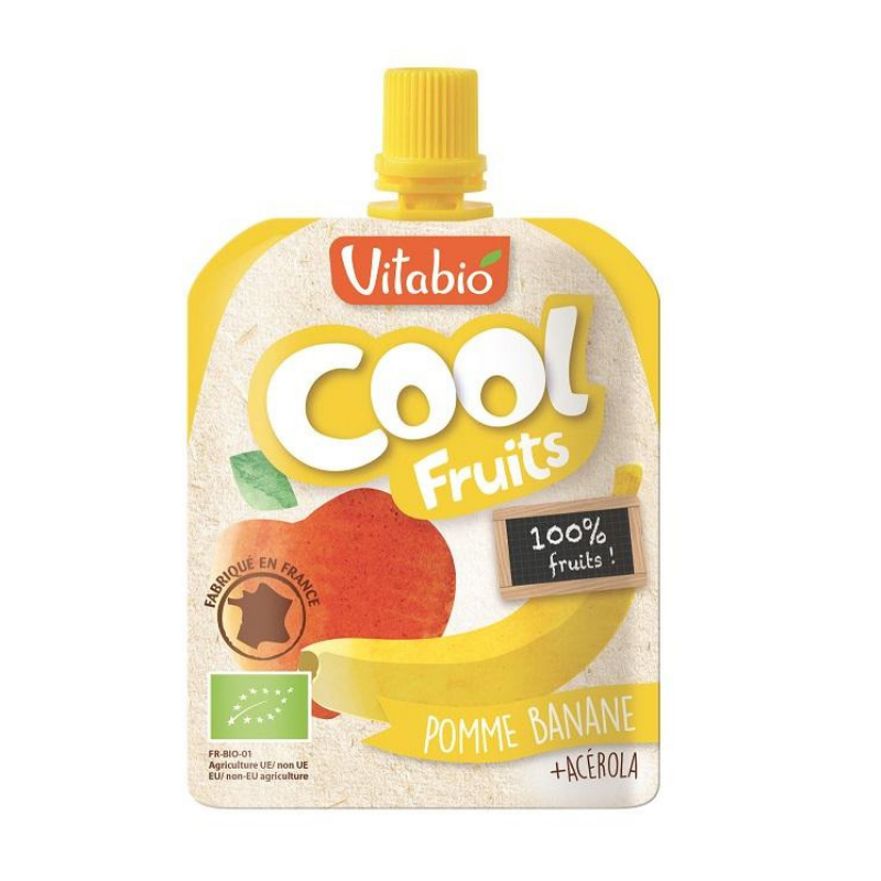 Vitabio Cool Fruits Apple-Banana Organic Smoothie, 90g