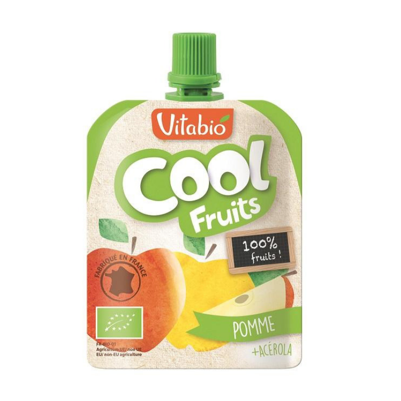 Vitabio Cool Fruits Apple Organic Smoothie, 90g