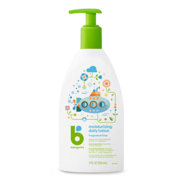 Babyganics Moisturizing Daily Lotion Fragrance Free - 502ml