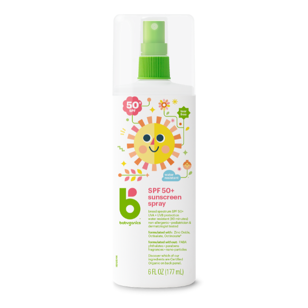 Babyganics Sunscreen Spray, SPF 50+ - 177ml