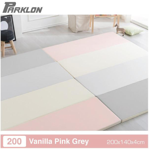 Parklon Vanilla Pink Grey Folding Playmat - Little Baby