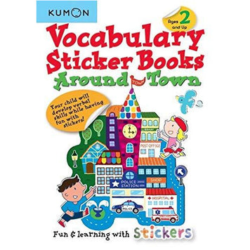 Kumon Vocabulary Sticker Books - Around Town