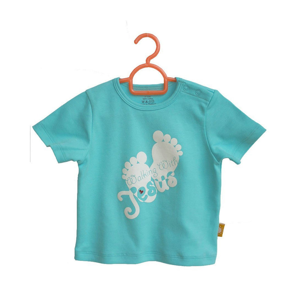 Walking with Jesus children's t-shirt by Glorious Seed your source of Christian inspired baby clothes