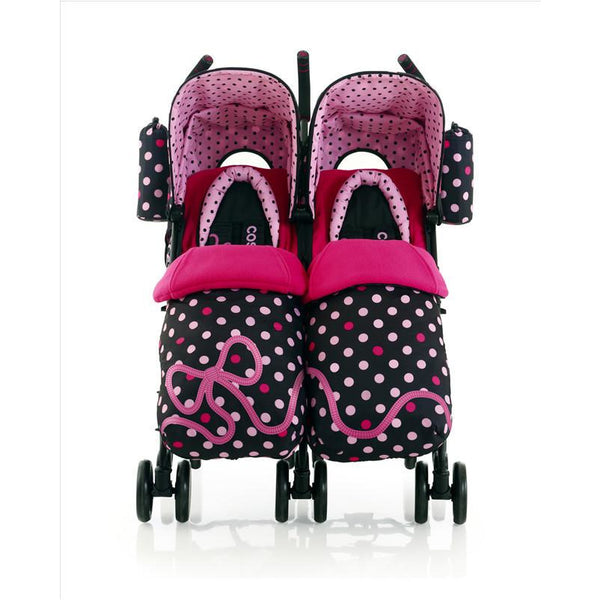 Cosatto Supa Dupa Twin Stroller - Bow How - Little Baby