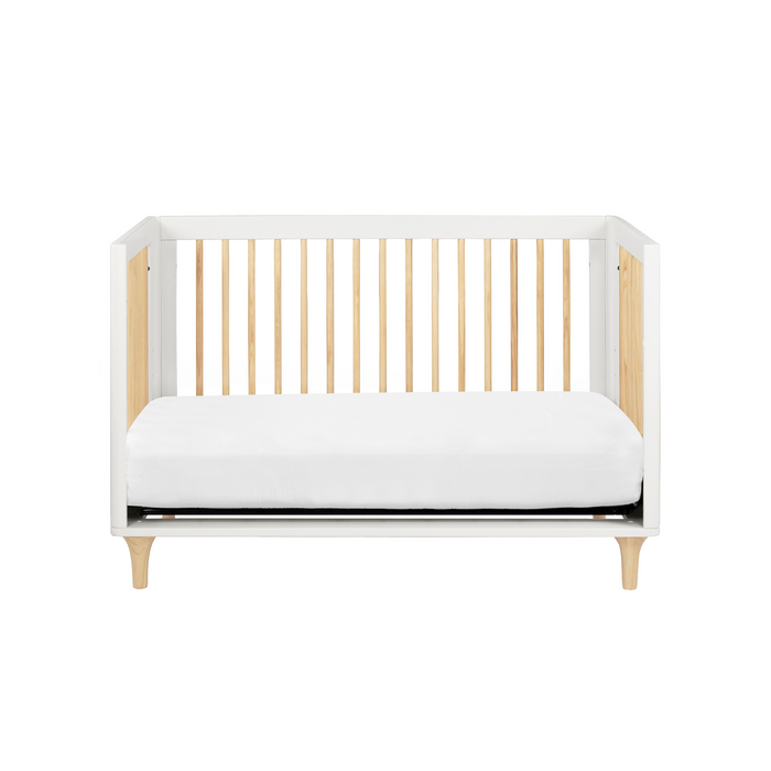 Babyletto Lolly 3-in-1 Convertible Crib with Toddler Bed Conversion Kit (White/Natural)
