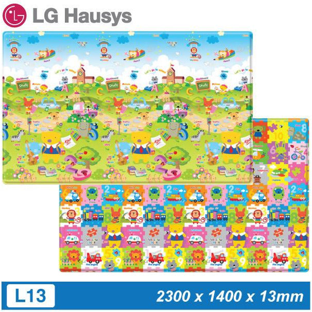 LG Hausys Playmat - Yellow Bear Studying (L13) - Little Baby