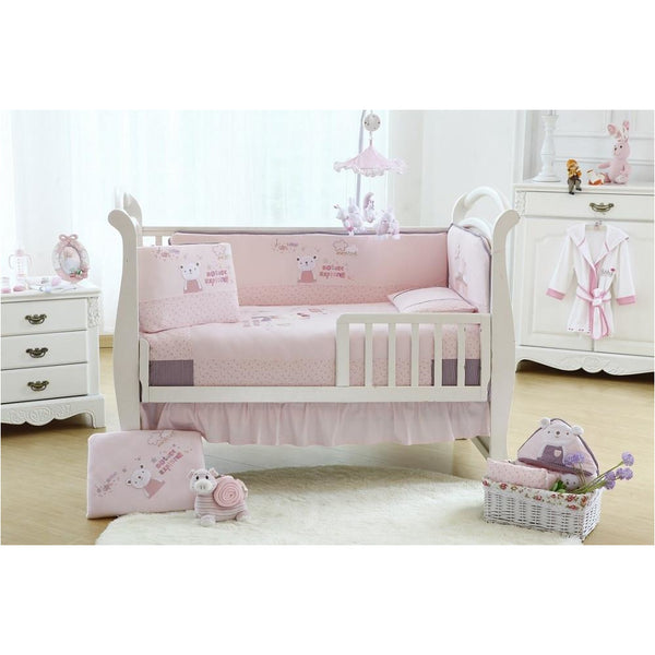 Lucky Baby Sunny Paradise 5 Pcs Crib Bedding Set - PINK