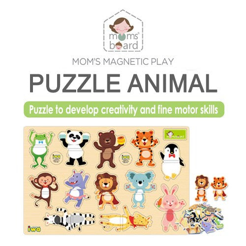 Momsboard Magnetic Puzzle – Animal (Opp)