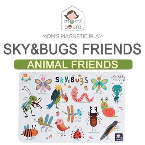 Momsboard Magnetic Animal Friends – Sky&Bugs (Opp)