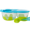 B.box Snack Pack with Soft Tip Spoon (Aqualicious)