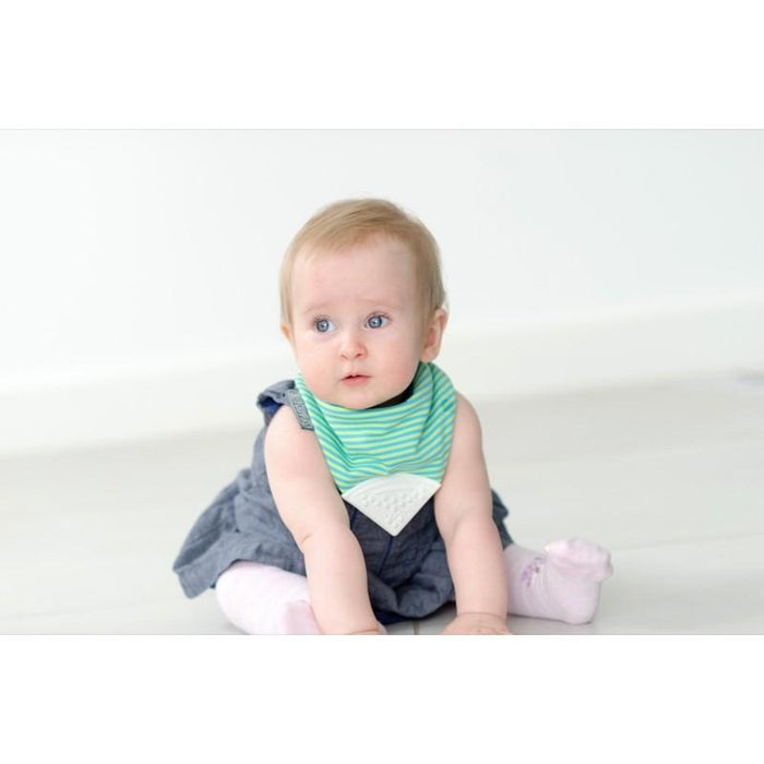Baby Bib - Cheeky Chompers Neckerchew Baby Bib - Uni-Stripe