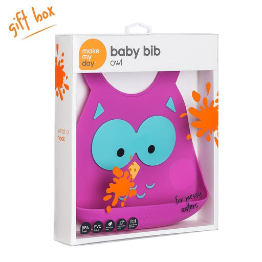 Baby Bib - Make My Day Bib - Owl