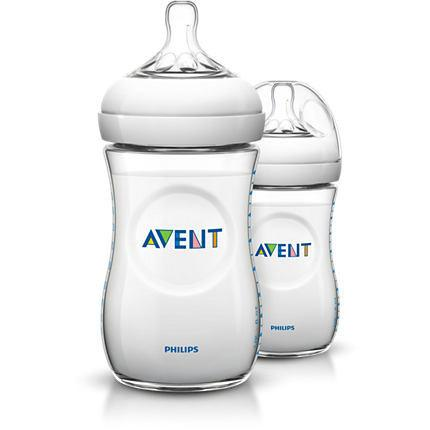 Baby Bottle - Philips AVENT 9oz/260ml Natural Baby Bottle Twin Pack SCF693/23