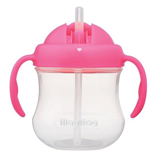 Baby Bottle - Pigeon MagMag Straw Cup (for 8 Months Onwards) Pink