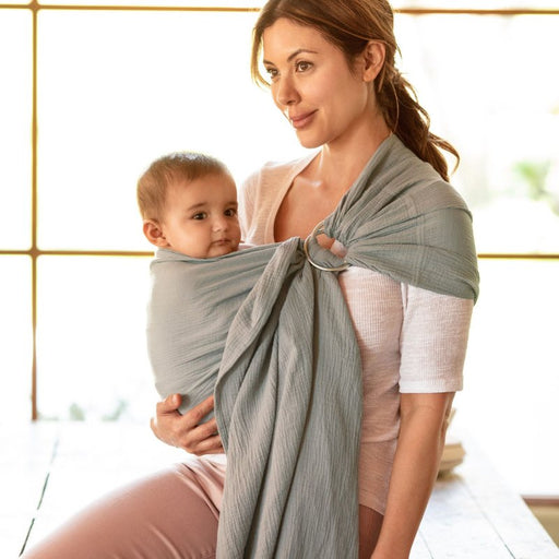 Baby Carrier - MOBY Sling - 100% Cotton Gauze: Pewter