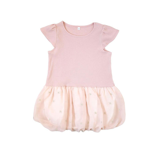Baby Clothing - 10mois (Dimowa) Star Chiffon Balloon One Piece Pink