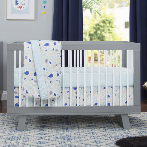 Baby Crib - Babyletto Hudson 3-in-1 Convertible Crib With Toddler Bed Conversion Kit (Grey/White)