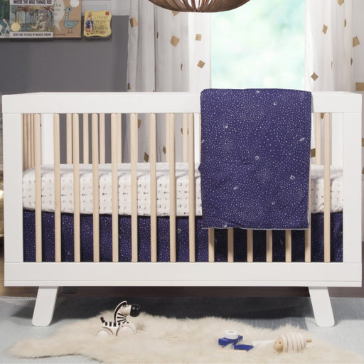 Baby Crib - Babyletto Hudson 3-in-1 Convertible Crib With Toddler Bed Conversion Kit (White/Washed)