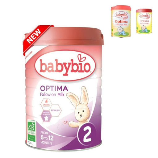 Baby Food - Babybio Organic Optima Follow-On Milk (6 Mos. Onwards), 900 G