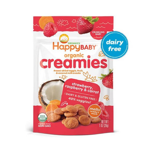 Baby Food - Happy Family Happy Baby Coconut Creamies - Strawberry, Raspberry & Carrot, 28 G.