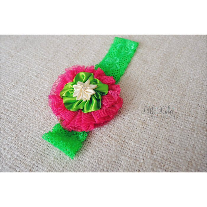Baby Headband - Little Em's Headband A1 - Green