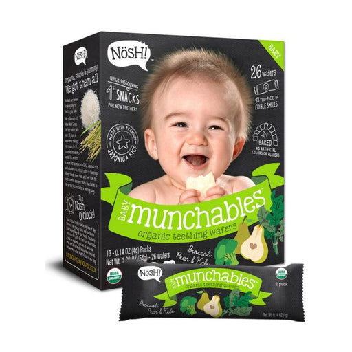 Baby Snack - Nosh Baby Munchables - Broccoli, Pear & Kale, 13 X 4g.