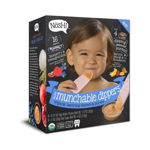 Baby Snack - Nosh Baby Munchables Dippers- Blueberry Pomegranate, 144g