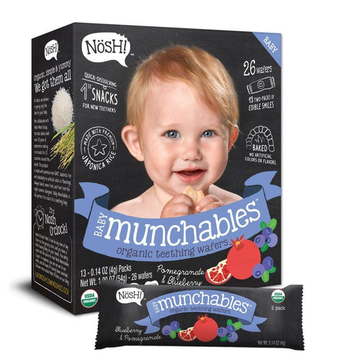 Baby Snack - Nosh Baby Munchables - Pomegranate & Blueberry, 13 X 4g.