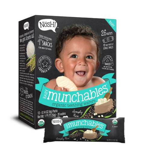Baby Snack - Nosh Baby Munchables - Simply Rice, 13 X 4g.