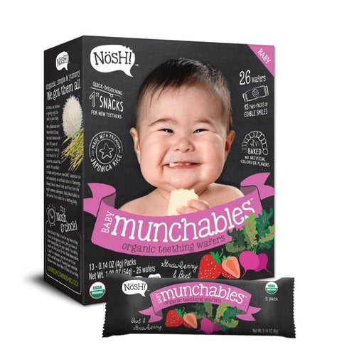 Baby Snack - Nosh Baby Munchables - Strawberry & Beet, 13 X 4g.