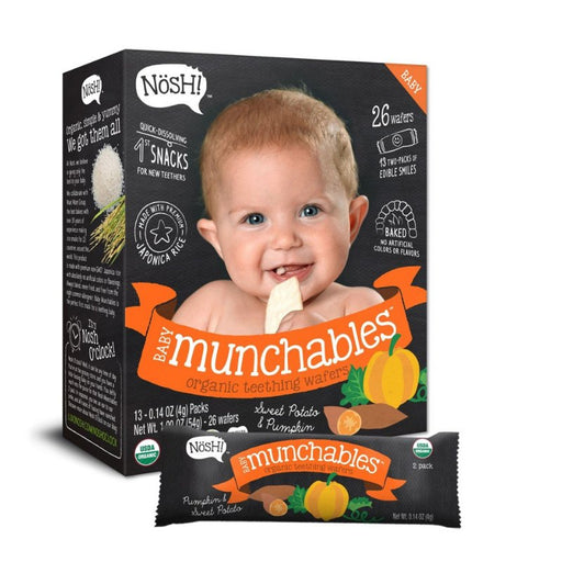 Baby Snack - Nosh Baby Munchables - Sweet Potato & Pumpkin, 13 X 4g.