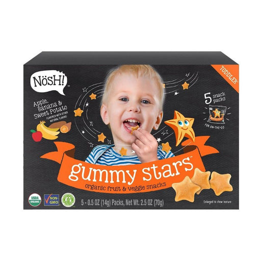 Baby Snack - Nosh Gummy Star - Apple Banana Sweet Potato, 70g