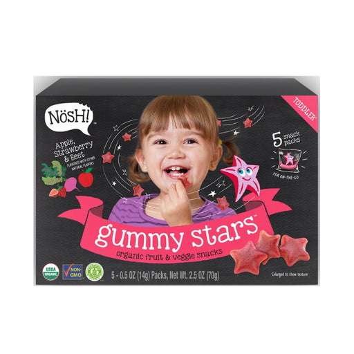 Baby Snack - Nosh Gummy Star - Apple Strawberry Beet, 70g