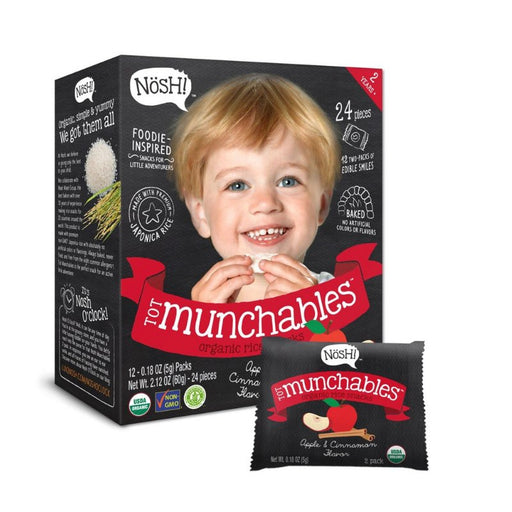 Baby Snack - Nosh Tot Munchables - Apple & Cinnamon, 12 X 5g.