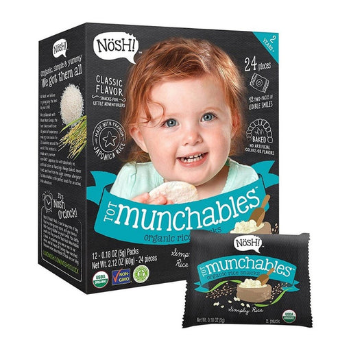 Baby Snack - Nosh Tot Munchables - Simply Rice, 12 X 5g.