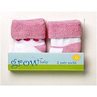 Baby Socks - Grow Baby Girl 2 Piece Terry Socks