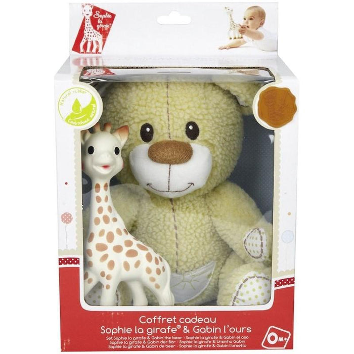 Baby Teether - Sophie Set (Sophie The Giraffe & Gabin The Bear Soft Toy)