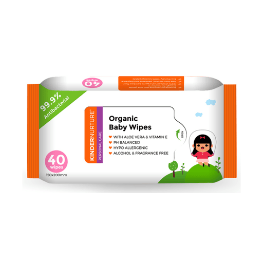 Baby Wipes - KinderNurture Organic Baby Wipes, 40 Wipes