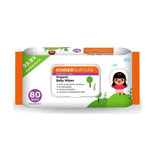Baby Wipes - KinderNurture Organic Baby Wipes, 80 Wipes