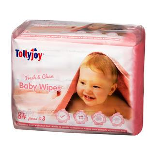 Baby Wipes - Tollyjoy Fresh & Clean Wet Wipes (84s X 3)