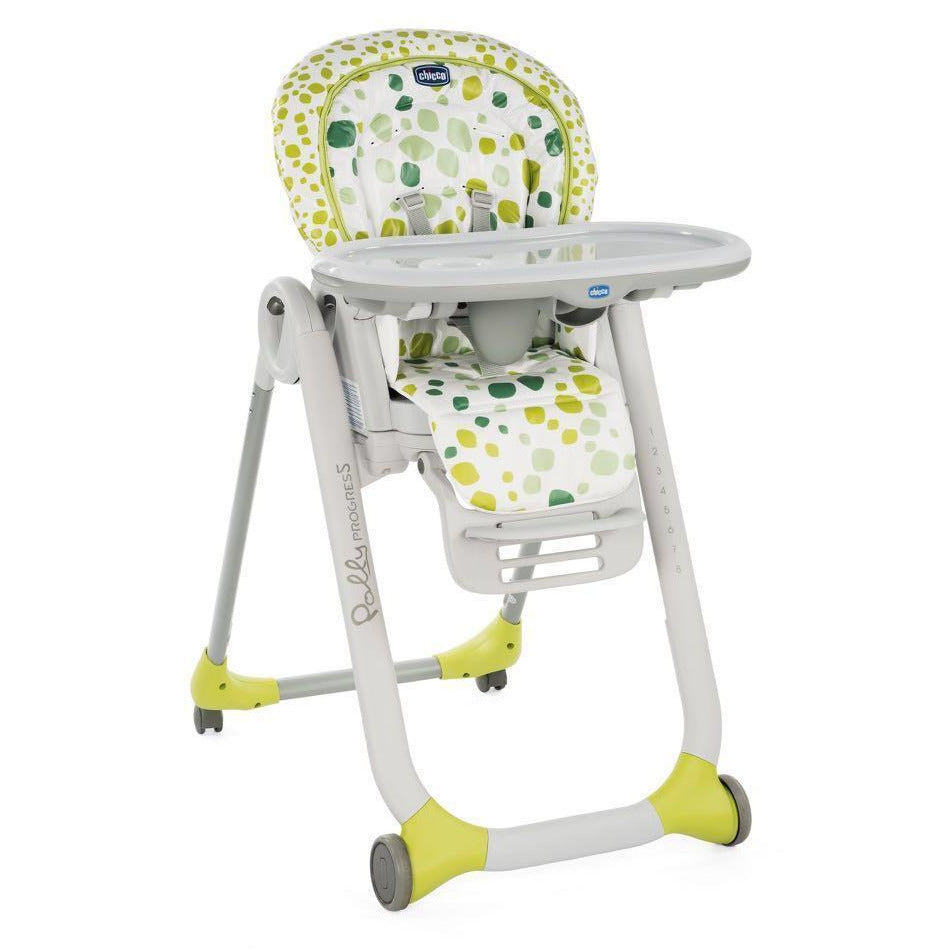 Baby Chicco Polly Progress High Chair In Kiwi D C X on Toddler Car Seat Carrier Cushion