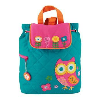 Backpack - Stephen Joseph Quilted Backpack (Tea Owl)