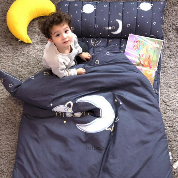Bedding Set - LOLBaby Microfiber Nap Bedding Set - Deep Space