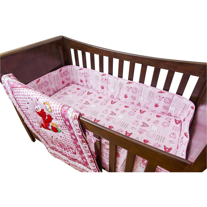 Bedding Set - Sesame 3 PC Crib Set - ABC Pink