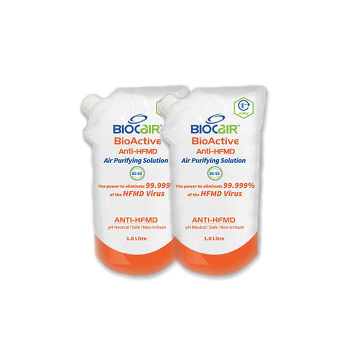 BioCair BioActive Anti-HFMD Air Purifying Solution [Twin Pack]