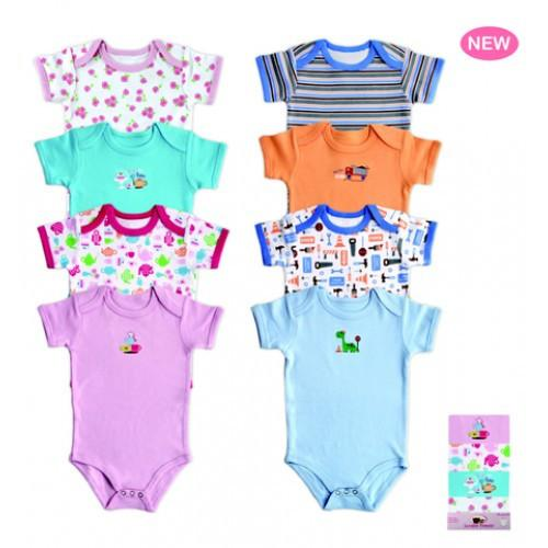 Bodysuits - Luvable Friends 4-Pack Bright Bodysuits