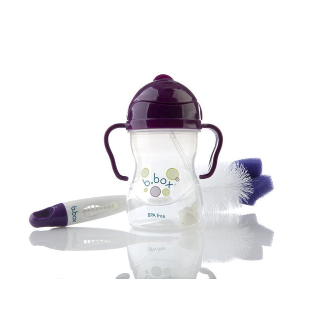 Bottle Brush - B.Box 2-in-1 Bottle And Teat Cleaner (Plum)